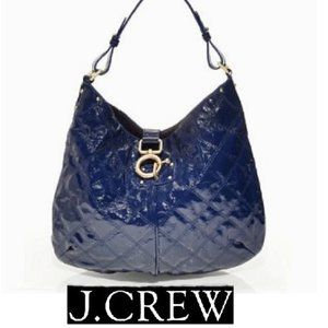 Royal Blue Quilted Patent Quincy Hobo Bag